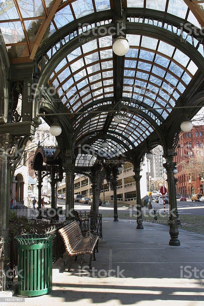 Walkway at Pioneer Square royalty-free stock photo