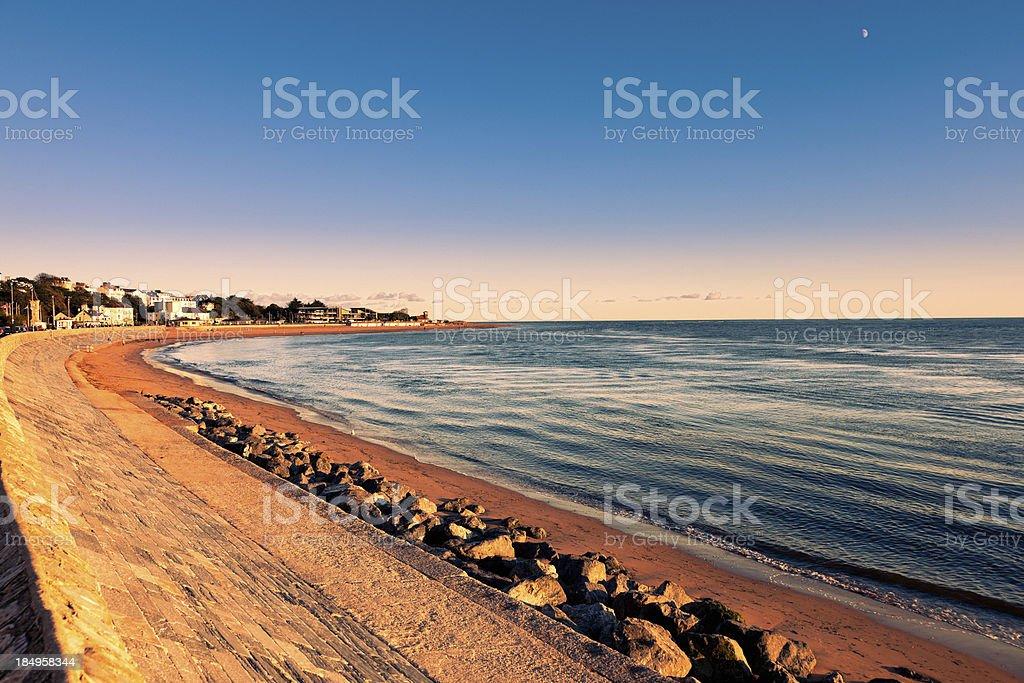 Walkway by the sea stock photo