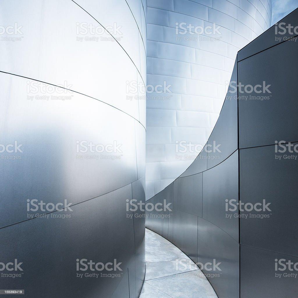 Walkway Corridor Modern Architecture Abstract stock photo