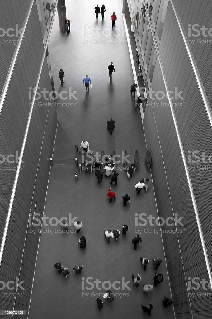 walkway from above stock photo