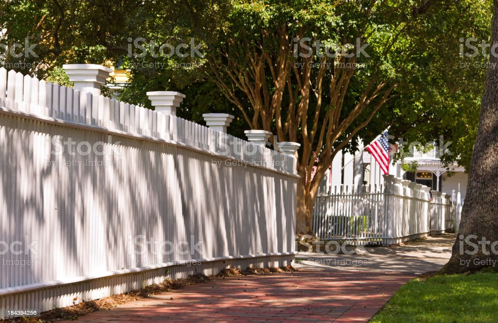 Walkway in historic district of Pensacola Florida stock photo