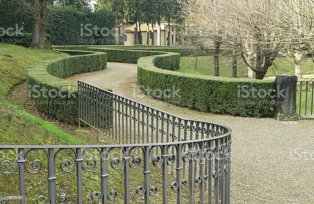 Walkway of the park royalty-free stock photo