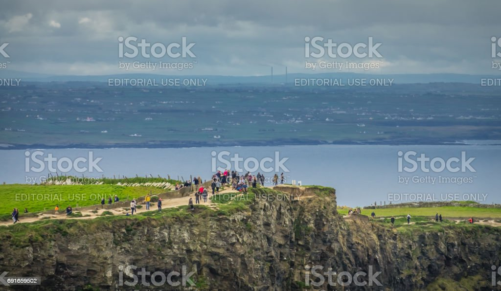 Walkway on the Cliffs of Moher stock photo