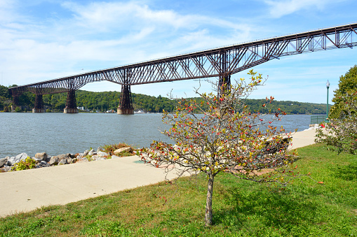 Walkway over the Hudson (formerly the Highland-Poughkeepsie railroad bridge) in Poughkeepsie, New York
