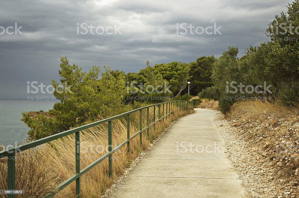 Walkway over the sea royalty-free stock photo