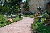 Nice walkway in gardens   iPhone
