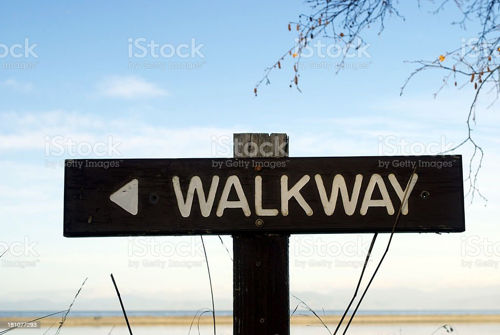 Walkway Sign, 'The Kumaras', Motueka, NZ royalty-free stock photo