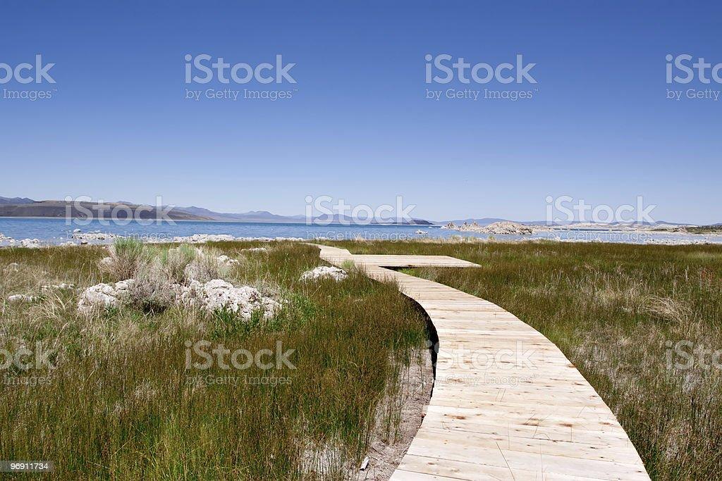 Walkway to Mono Lake in California royalty-free stock photo