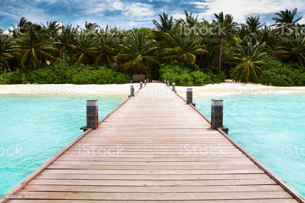 Walkway to paradise Island royalty-free stock photo