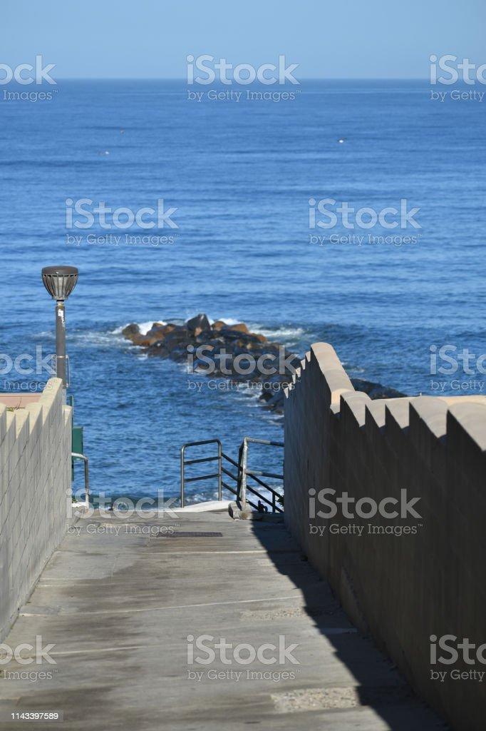 Walkway to the Beach stock photo
