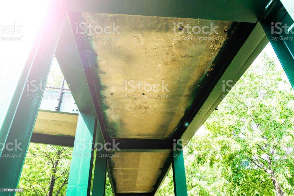 Walkway Under Bridge stock photo
