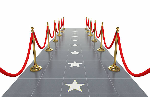 Walkway with Star Shapes Walkway with star shapes. walk of fame stock pictures, royalty-free photos & images
