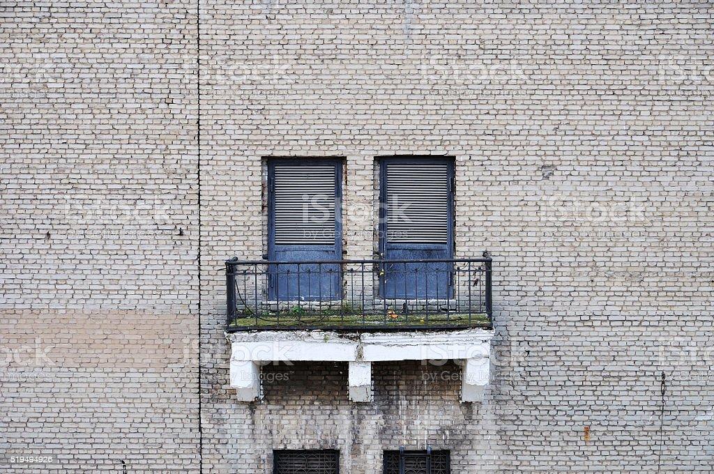 Wall and balcony stock photo