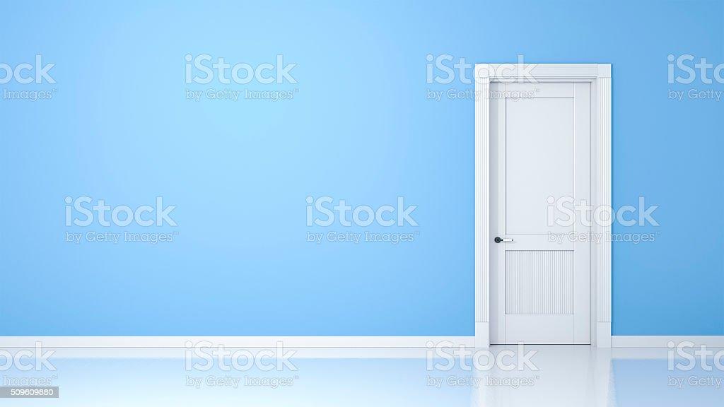 ... wall and door stock photo ...