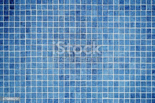 istock wall and floor mosaic tiles in azure blue 476886291