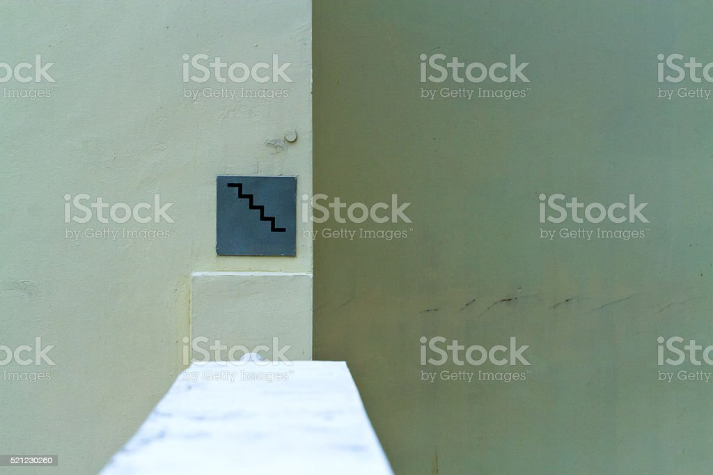 Wall and plates , a thin flat sheet stock photo