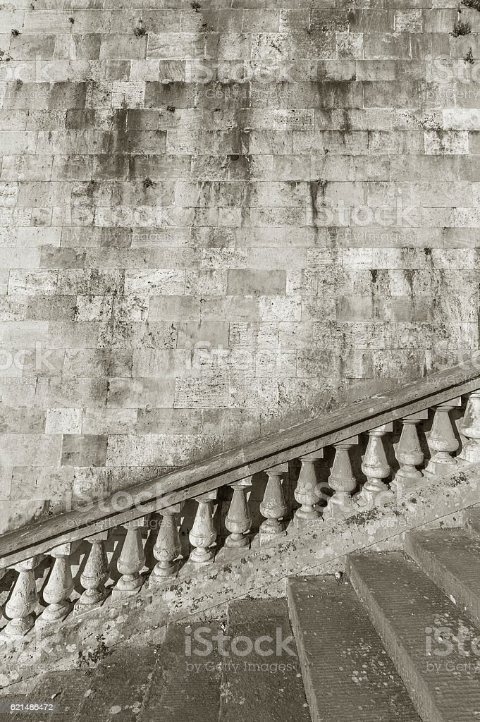 Wall and staircase foto stock royalty-free