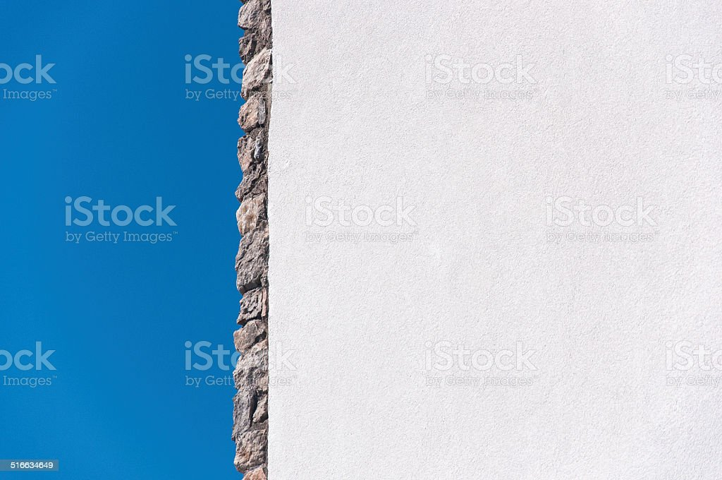 Wall and the sky stock photo