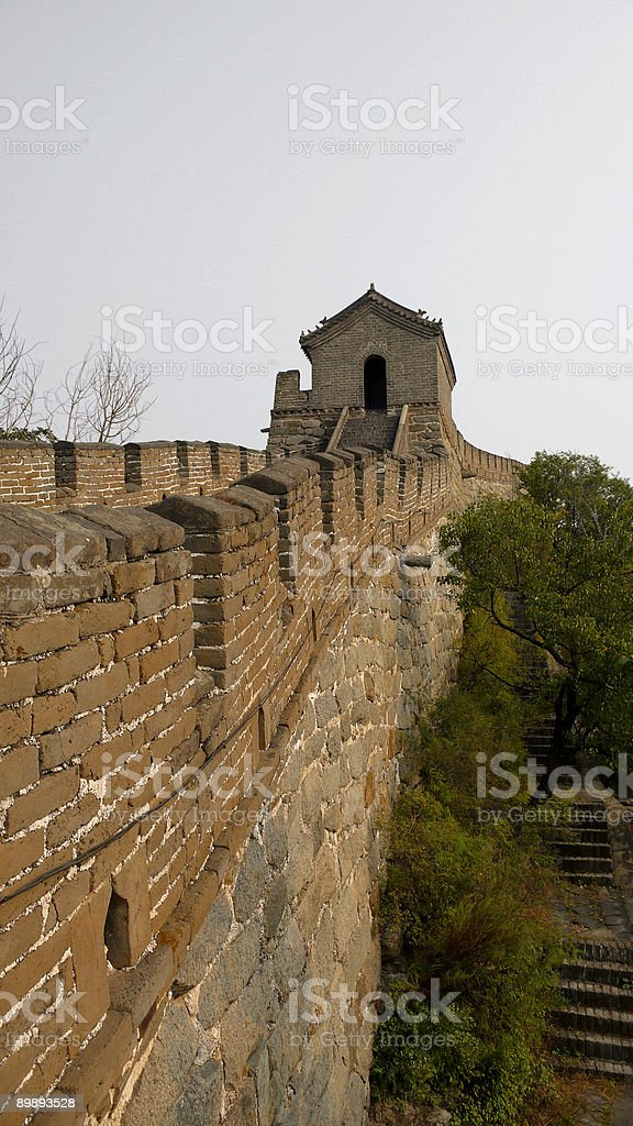 Wall and tower royalty-free stock photo