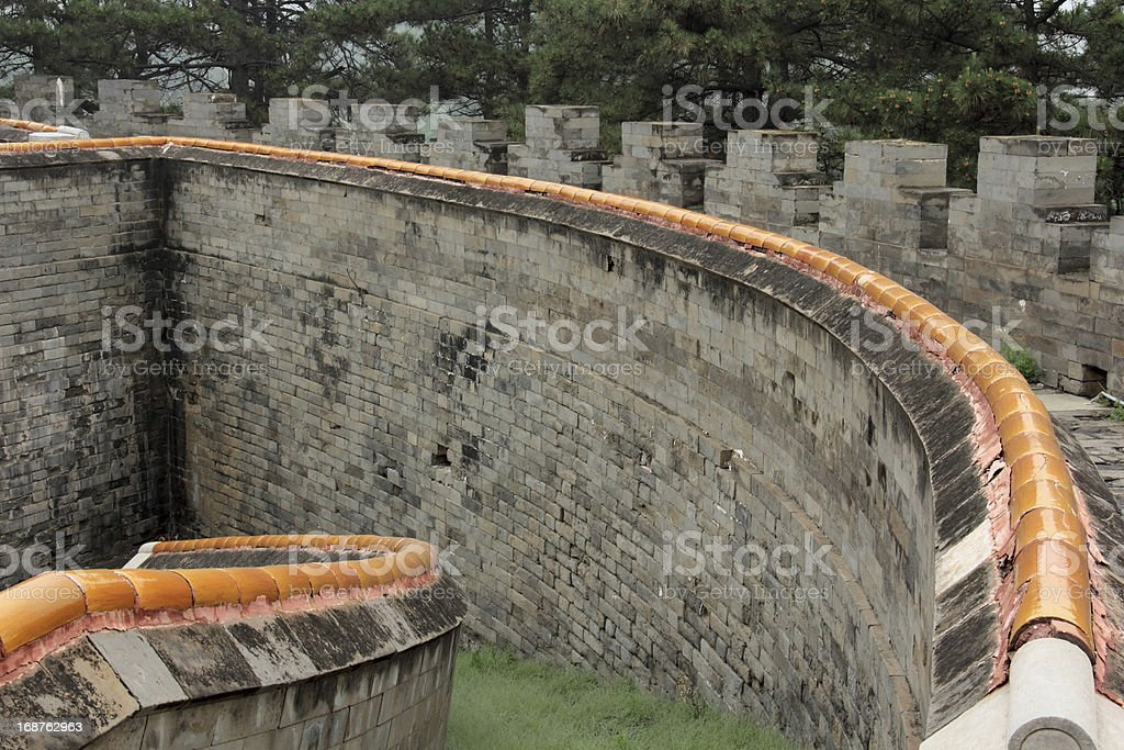 Wall architecture landscape in Eastern Royal Tombs royalty-free stock photo