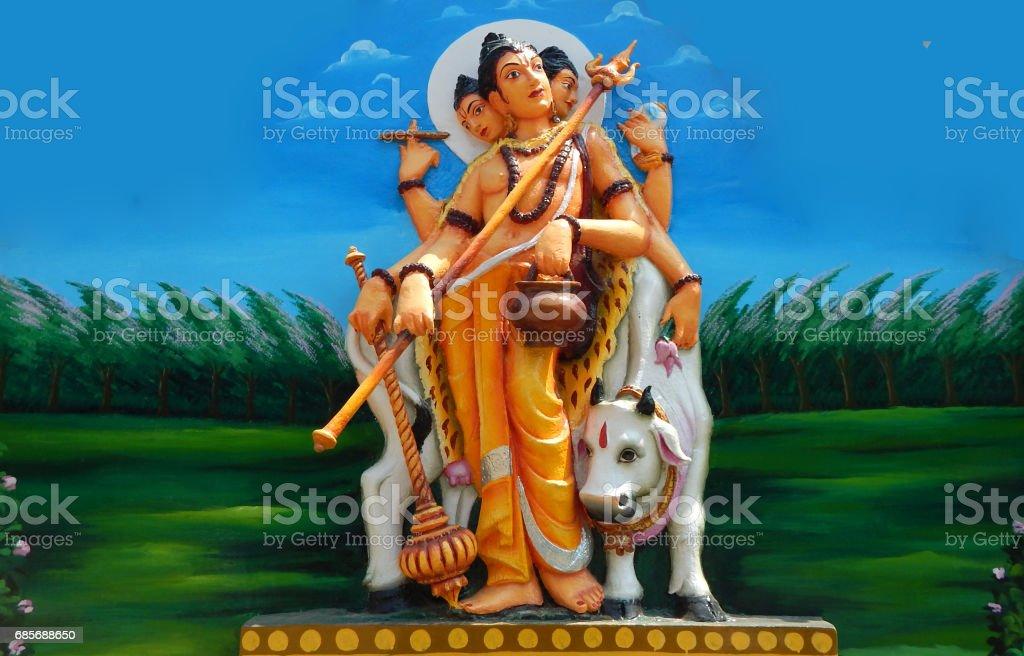 wall art of Hindu God Vishu in various avatars as is in mythology in Jagannatha temple, Hyderabad,India stock photo