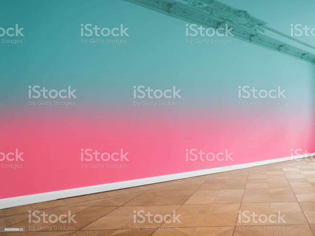 wall background in empty room with copy space stock photo