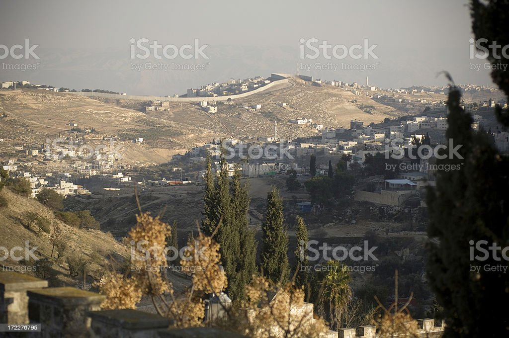 Wall between Israel and west bank royalty-free stock photo