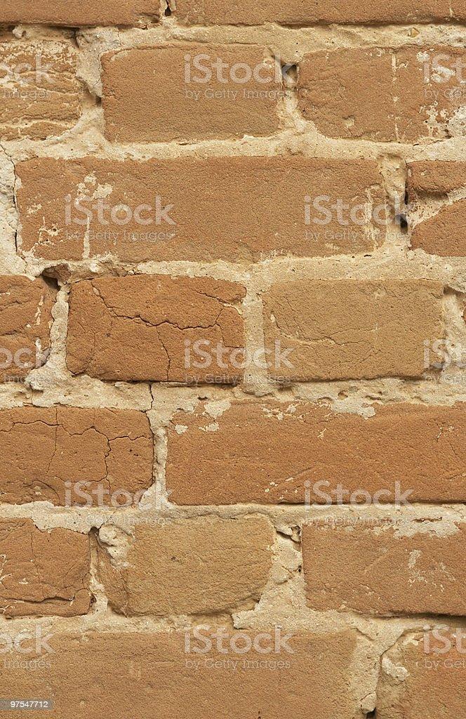 Fissuré fond mur de briques photo libre de droits