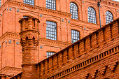 Wall Building with Red Brick in Lodz Manufaktura