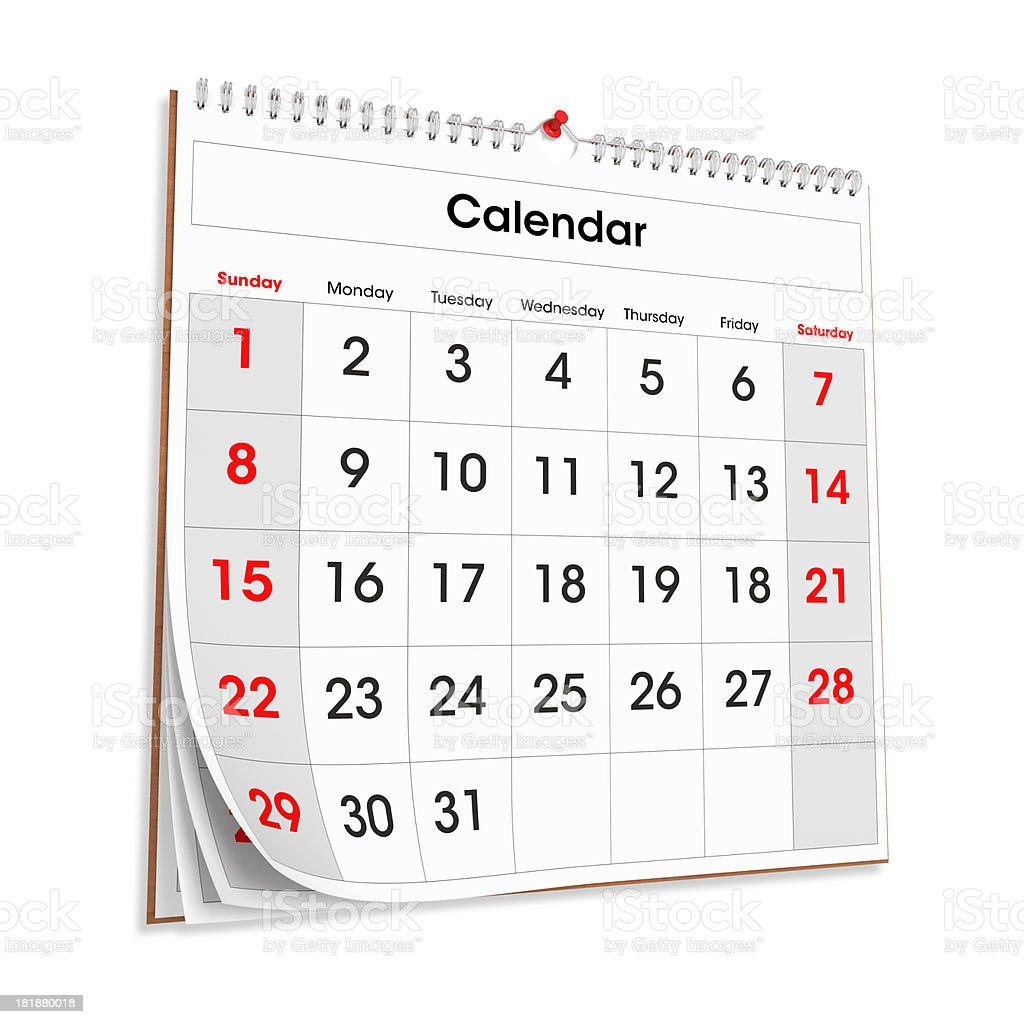 Wall Calendar royalty-free stock photo