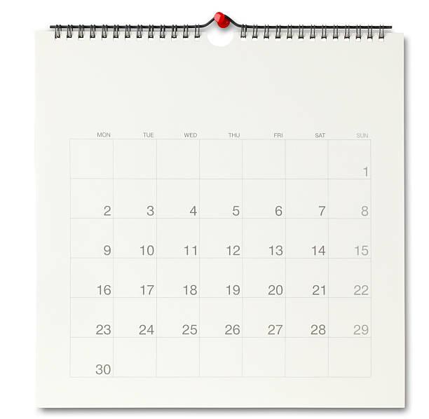 wall calendar - calendar stock photos and pictures