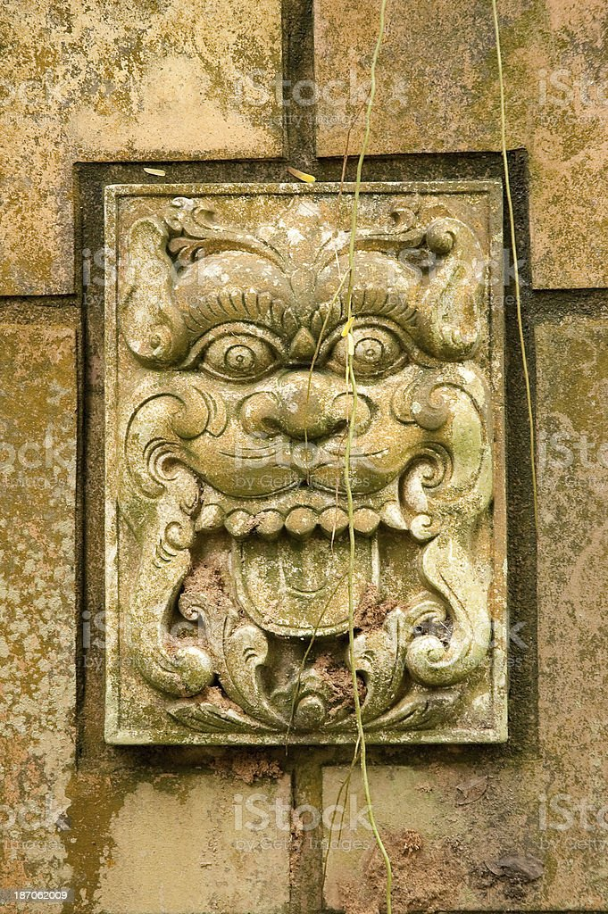 Wall Carving royalty-free stock photo