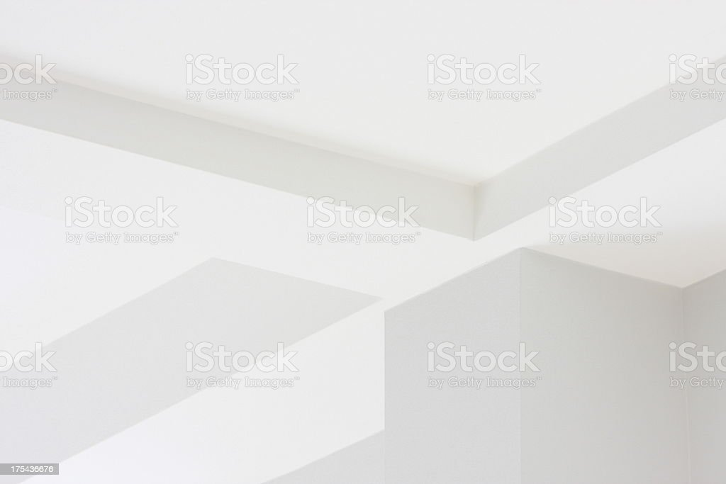 Wall Ceiling Corner Architecture Decor royalty-free stock photo