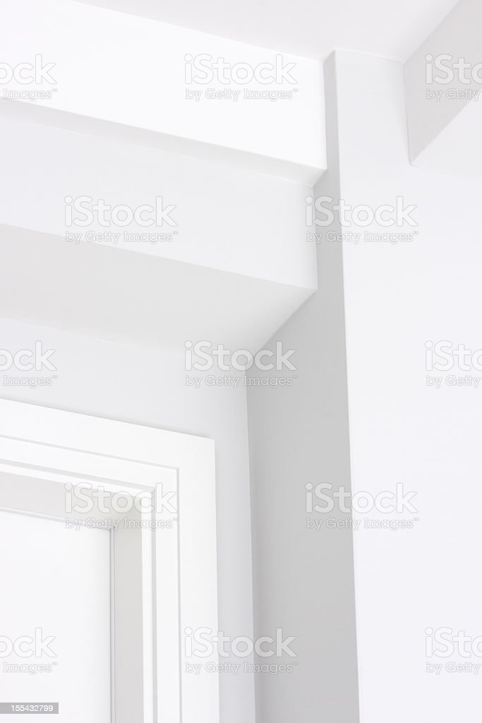 Wall Ceiling Moulding Home Interior Decor royalty-free stock photo