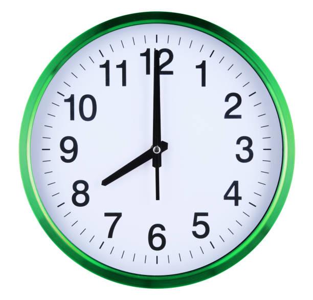 Wauer Uhr isoliert auf weißem Hintergrund. Acht Oclock – Foto
