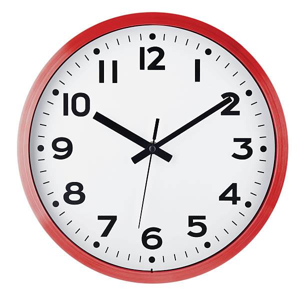 reloj de pared aislado en blanco. diez últimos diez años. - wall clock fotografías e imágenes de stock