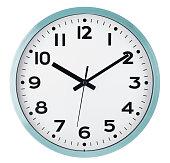 istock Wall clock isolated on white. Ten past ten. 597276512