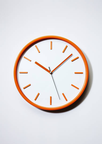 Wall clock Wall clock on white background clock hand stock pictures, royalty-free photos & images
