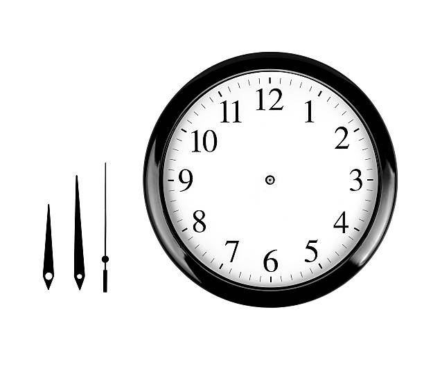 Wall clock Black wall clock isolated on white background clock hand stock pictures, royalty-free photos & images