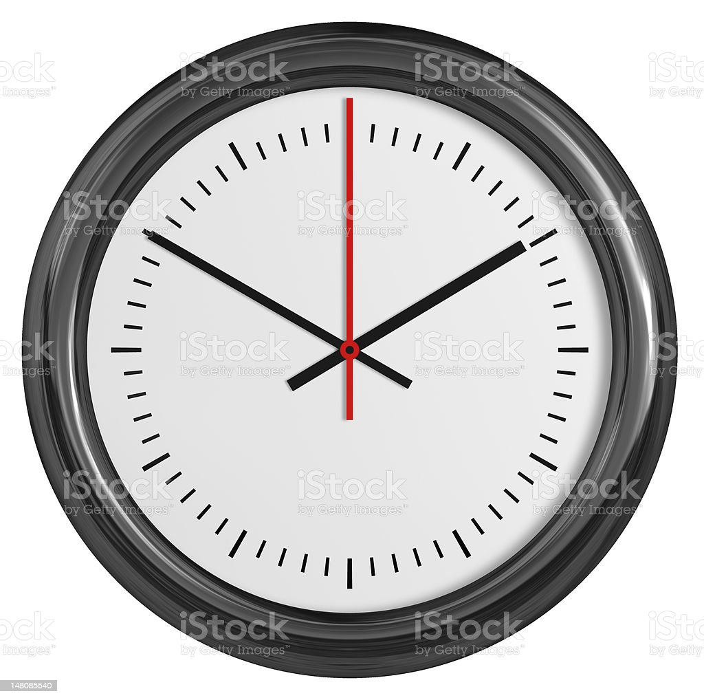 Wall clock. Vector illustration. stock photo