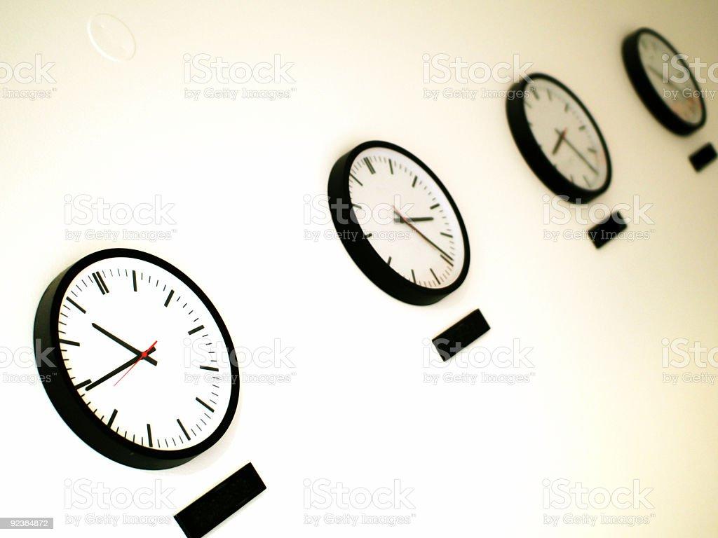 Wall Clocks royalty-free stock photo