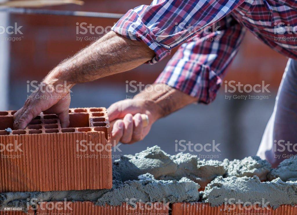 Wall Construction stock photo