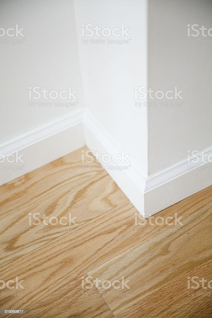 Wall corner on a new apartment stock photo
