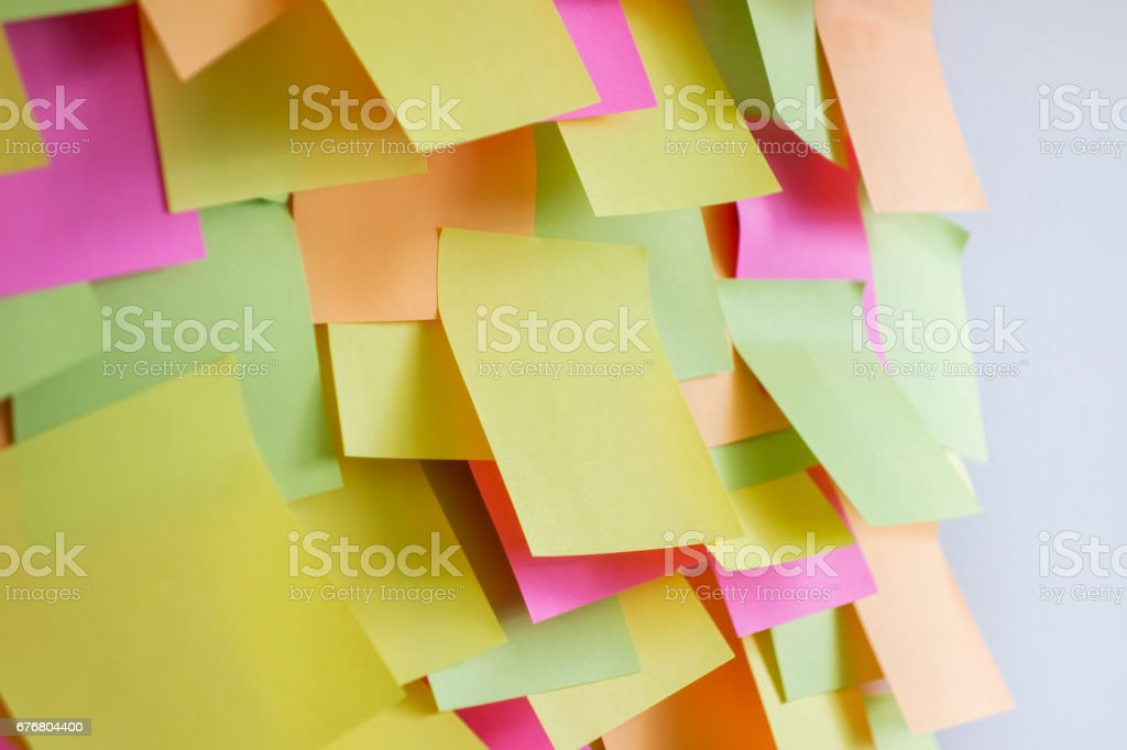 adhesive notes on wall