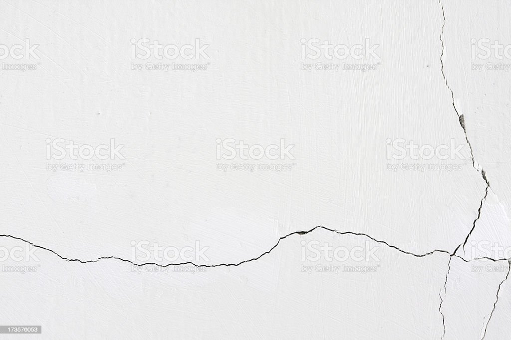 A wall cracked by a earthquake royalty-free stock photo