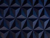 3D wall dark blue panel seamless texture with geometric triangle pattern