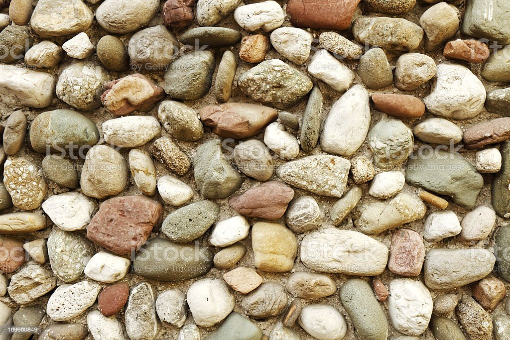 Wall decorated with colorful stone royalty-free stock photo