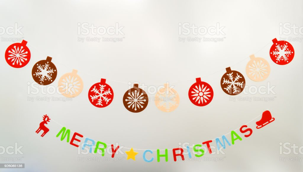 Wall decoration as Merry Christmas - foto stock