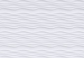 wall decoration white background  - wave - gypsum - rendering