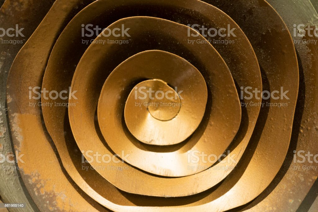 wall decoration with Ornament elements, vintage gold geometric designs stock photo